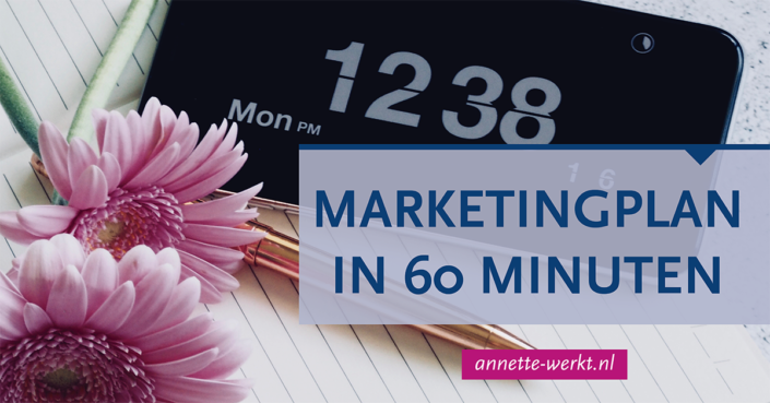 marketingplan maand 60 minuten