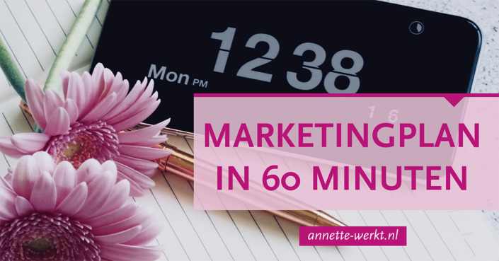 marketingplan 60 minuten