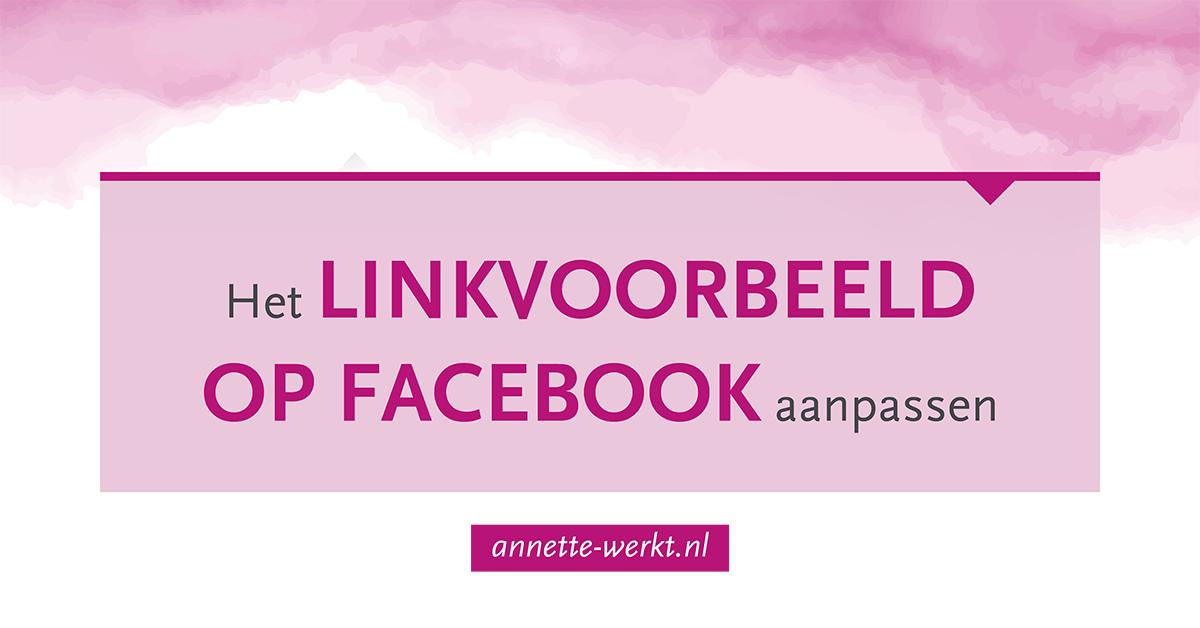 linkvoorbeeld facebook aanpassen