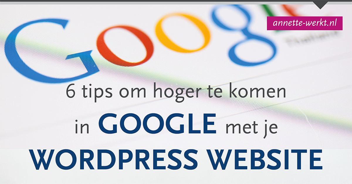 hoger google wordpress
