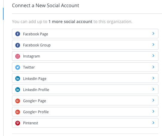 social media plannen