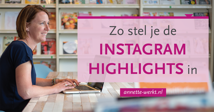 instagram highlight instellen