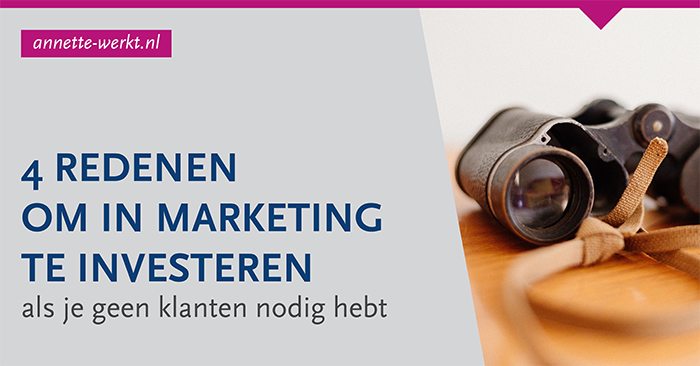 Redenen om in marketing te investeren