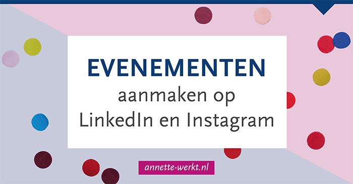 evenement linkedin instagram