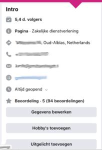 facebook bedrijfspagina nieuwe pagina ervaring