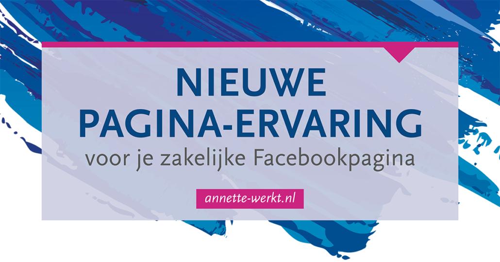 facebook nieuwe pagina ervaring
