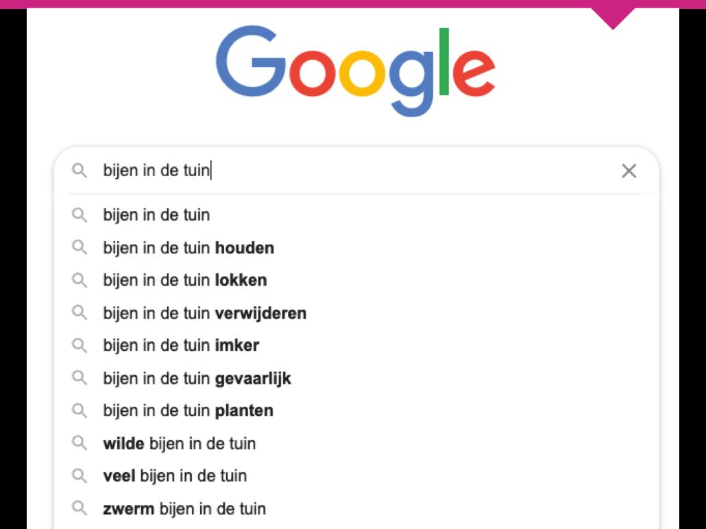 google zoekwoorden vinden